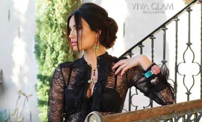 VIVA GLAM MAGAZINE ALINA PUSCAU SUPERMODEL CASHMERE HAIR GLAMARELLA COUTURE 2