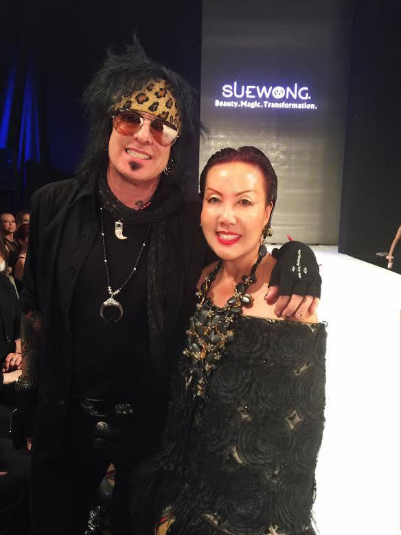 Nikki Sixx of Motley Crüe and Sue Wong viva glam magazine