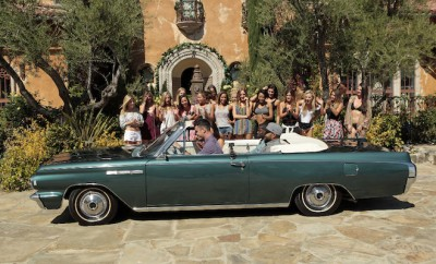 """BACHELOR - """"Episode 2002"""" - Ben greets ten ladies at a local Los Angeles high school where he invites them to take a trip down memory lane with him, but Lace is desperate to redeem herself after her erratic behavior at the first rose ceremony. Chris Harrison gets the first one-on-one date off to an exciting start when he introduces Ice Cube and Kevin Hart, fresh from the set of """"Ride Along 2,"""" to Ben and his date, and they are off on a rollicking, unconventional rendezvous, which will end with a special performance by popular singer-songwriter Amos Lee. Finally, a visit to The Love Lab will test six bachelorettes to see who among them has the best connection to Ben. The week culminates when the drama-filled rose ceremony has one lady making a stunning decision, on """"The Bachelor,"""" MONDAY, JANUARY 11(8:00-10:01p.m. EST), on the ABC Television Network. (ABC/Rick Rowell) (BACK) SAMANTHA, LAUREN B., LAUREN H., RACHEL, JAMI, AMBER, EMILY, AMANDA K., JUBILEE, LACE, JOELLE, LAUREN B., SHUSHIK, JENNIFER, (FRONT) BEN HIGGINS, KEVIN HART, ICE CUBE"""