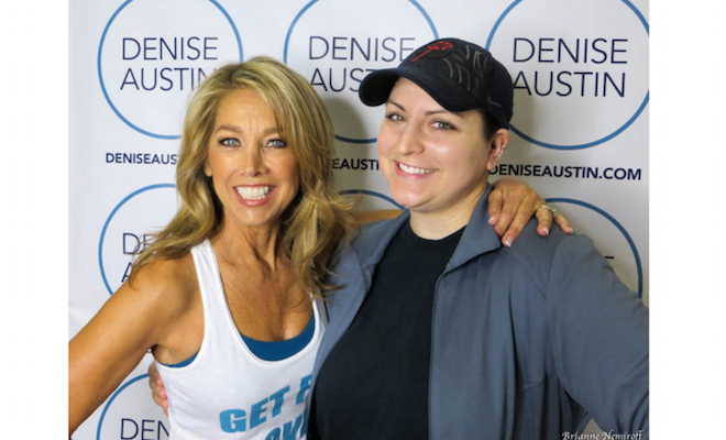 denise austin and katie austin the fit expo los angeles brianne nemiroff viva glam magazine