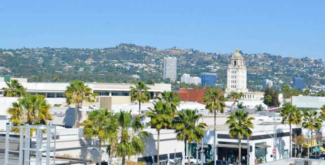 view from the Luxe Hotel Rodeo Dr Viva glam magazine