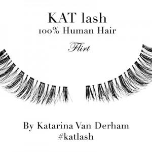 KAT LASH katarina van derham Flirt vegan hand made cruelty free human hair false eyelashes viva glam magazine