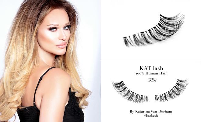 KAT LASH katarina van derham Flirt banner viva glam magazine human hair eyelashes vegan cruelty free handmade