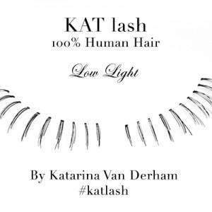 KAT LASH katarina van derham Low Light false eyelashes handmade cruelty free human hair vegan