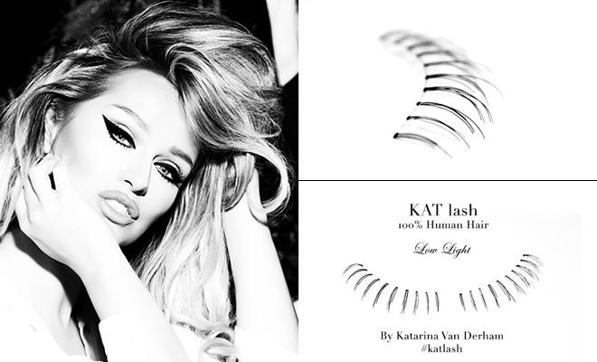 KAT LASH katarina van derham Low Light banner viva glam magazine vegan cruelty free handmade human hair eyelashes