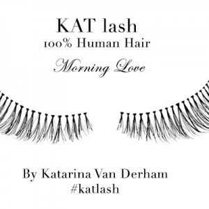 KAT LASH katarina van derham Morning Love false eyelashes human hair viva glam magazine