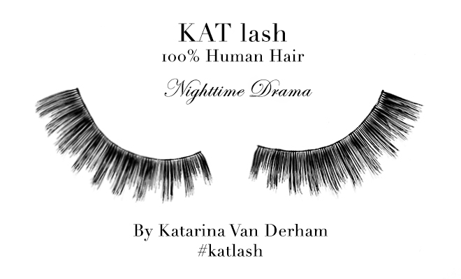 KAT LASH katarina van derham Nighttime Drama vegan cruelty free hand made human hair false eyelashes viva glam magazine