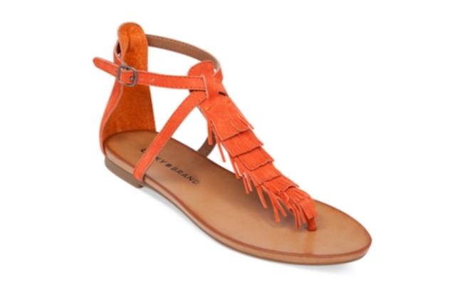 lucky brand Wekka Fringe flat thing sandals, viva glam magazine, spring