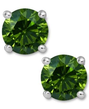 sparkling stud earrings green, viva glam magazine, st. patricks day