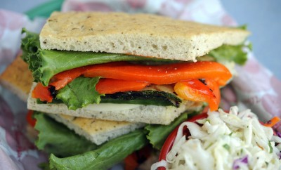 """Grilled Vegetable Sandwich"", Tomorrowland Terrace, Disneyland Park-viva glam magazine vegan food"