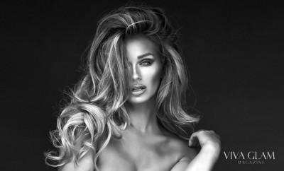 katarina van derham sexy nude black and white cashmere hair deja jordan viva glam magazine