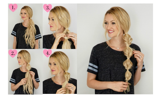 Side Bubble Braid Tutorial Using Cashmere Hair-viva glam magazine-beauty-hair cashmere hair