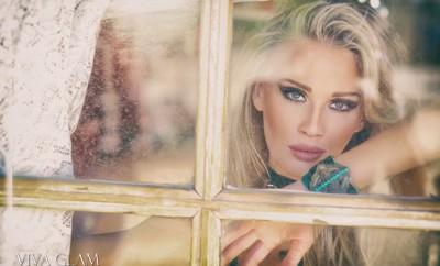 VIVA GLAM MAGAZINE LIV JAEGER Glamarella Couture Cashmere Hair Farnsworth viva glam supermodel. western couture main