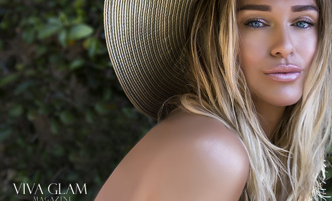 katarina van derham bronze beach makeup deja jordan cashmere hair sunset blonde hat slovak