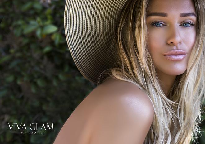 katarina van derham bronze beach makeup deja jordan cashmere hair sunset blonde hat slovak