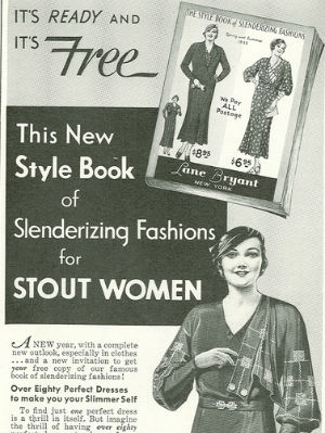 How 'Plus Size' Came To Be and the Fluctuation of the Ideal Body-5lane-bryant-stout-women-style-book