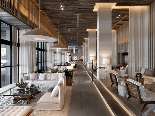 Eco Luxury Miami 1 Hotel South Beach lobby view