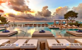 Eco Luxury Miami 1 Hotel South Beach main pool sunrise