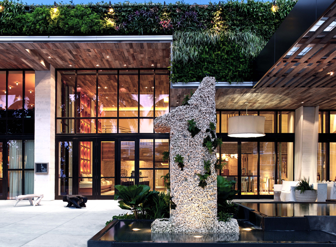 Eco Luxury Miami 1 Hotel South Beach entrance coral 1