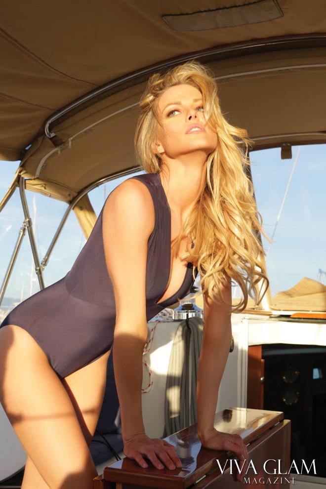 VIVA GLAM MAGAZINE Sexiest Issue, Scarlett Burke Boohoo Bodysuit yacht