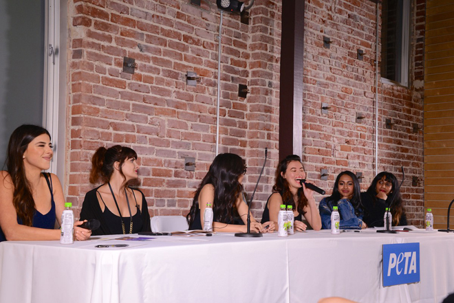 Vegan Fashion Peta Show discussion panel copyright Peta