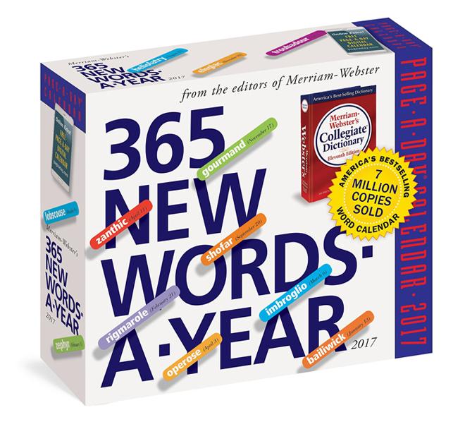 desk calendars 2017 Word A Day, 365 days
