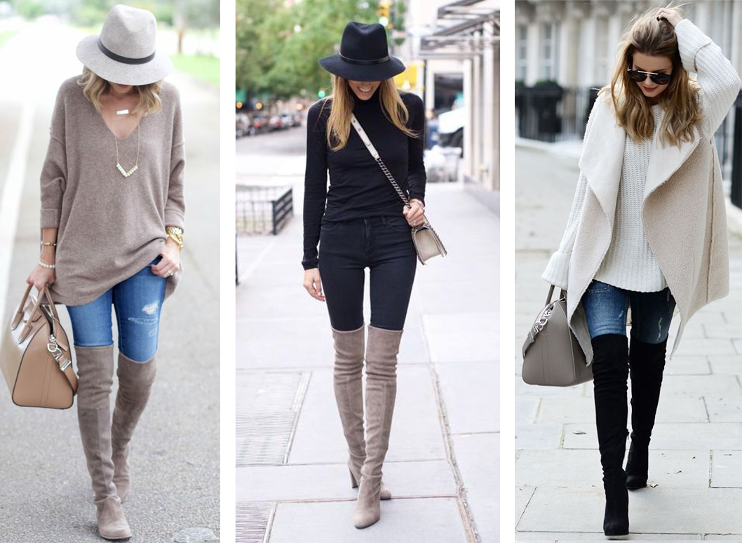 styling your jeans skinny jean and over the knee boots