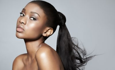 African black woman beauty makeup ponytail, article Oily Love