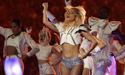 Lady Gaga Belly Super Bowl LI Halftime Performance Show photo by AP