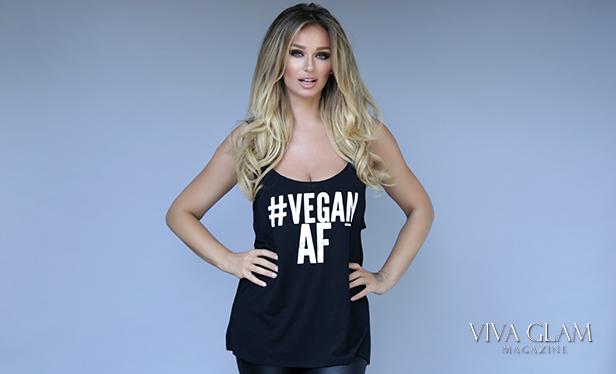 katarina van derham vegan shirt af viva glam magazine cashmere hair