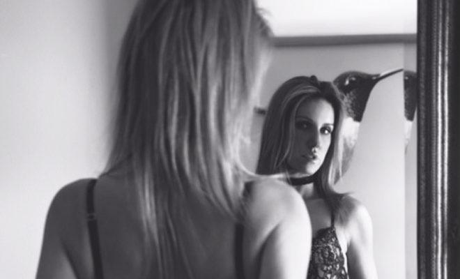 Bozena Zag model interview black and white B&W lingerie lace