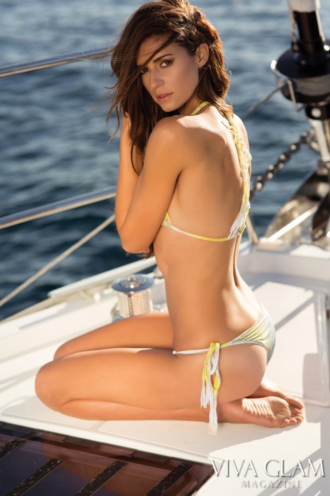 Top 20 Sexiest-2017-Beth-Ostendorf-Revel-Rey-swimwear, Photographer Sarah Orbanic Makeup Katarina Van Derham, Hair Angelica Curiel, Marina del Rey, Cruising Yachts