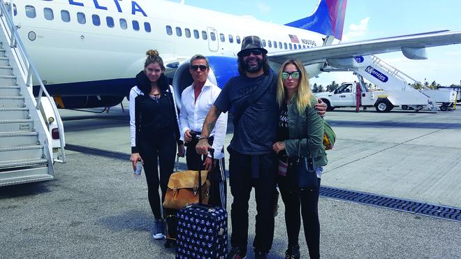 Zemi-Beach-House-Anguilla-BTS-plane-jet-Brittany-Doug-Deja-Katarina