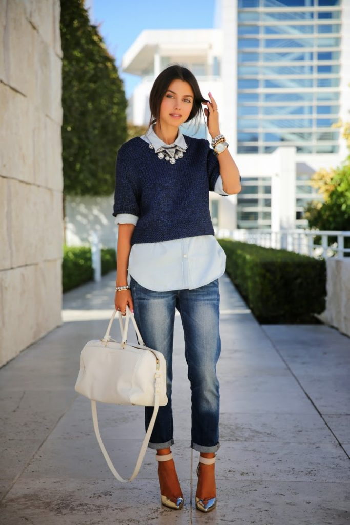 boyfriend-jeans-with-cropped-sweater-and-button-down-shirt-statement-jewelry-crop-sweaters-jumper-fall