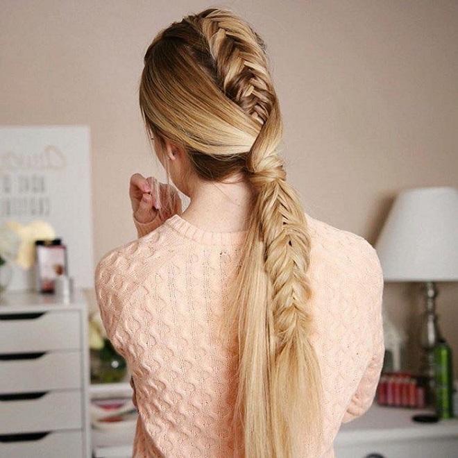 23 Best Fishtail Braids on Instagram fishtail ponytail