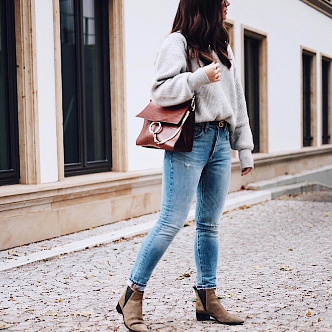 ankle-boots-tucked-in-sweater-jumper-street-style-fall-fashion-style-trends-denim-jeans
