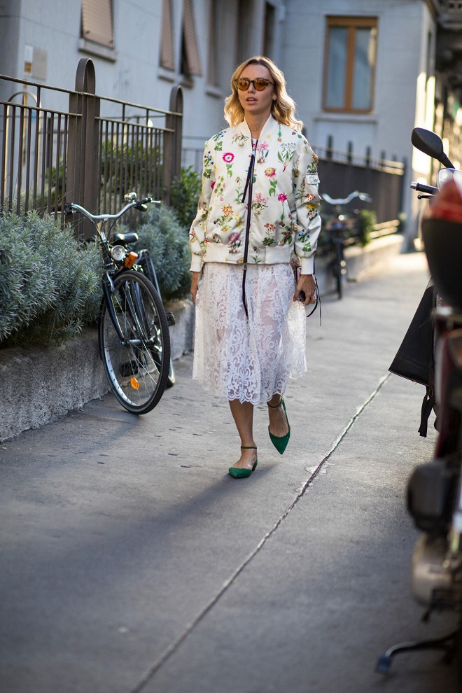 21 80s Fashion Trends that We Still Wear Today bomber jacket skirt