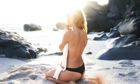 swimsuit, beach, bikini, topless