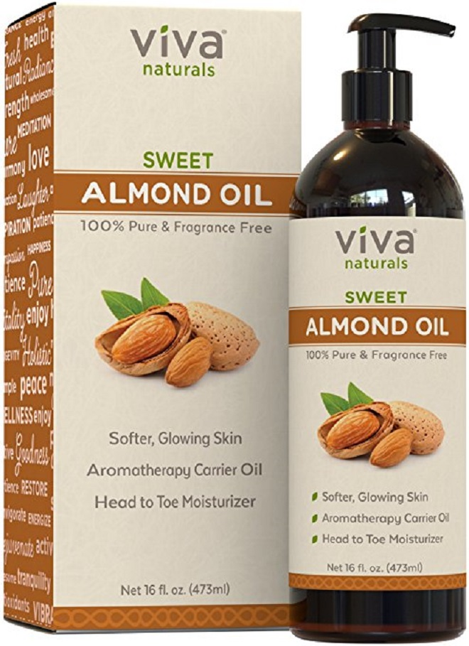 21 Vegan Beauty Products with 5-Star Reviews on Amazon Viva Naturals Sweet Almond Oil