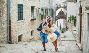 travel, couple, exploring