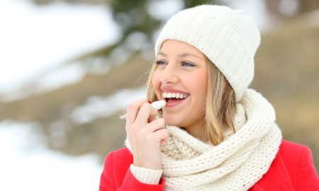 blonde, winter, chapstick, outside, cold