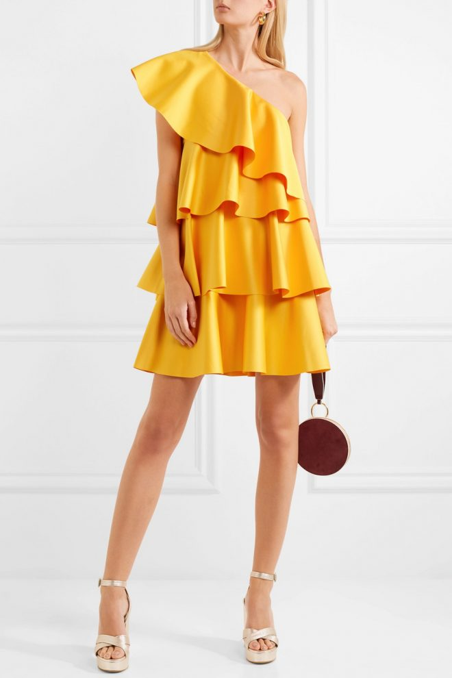 21 Spring Dresses for a Glamorous Easter yellow dress