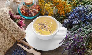 tea, lavender, herbs