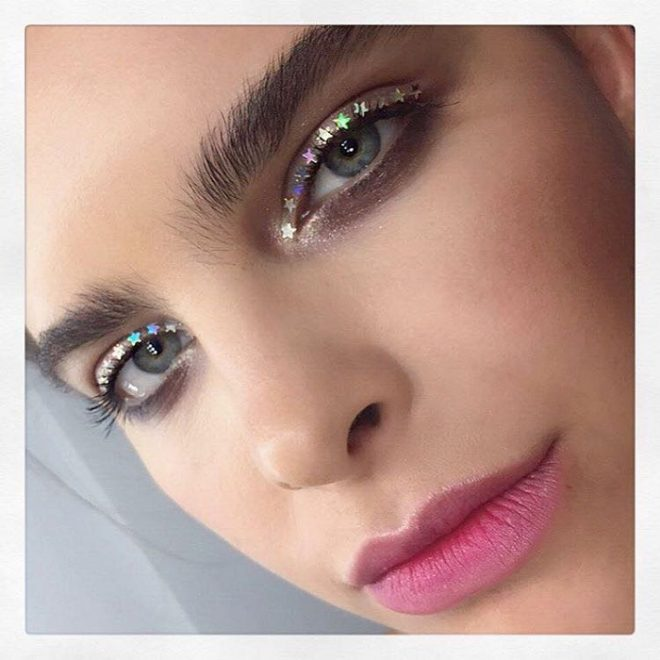 45 of Michael Anthony Best Beauty Looks on Instagram nude lips sparkly eyeshadow