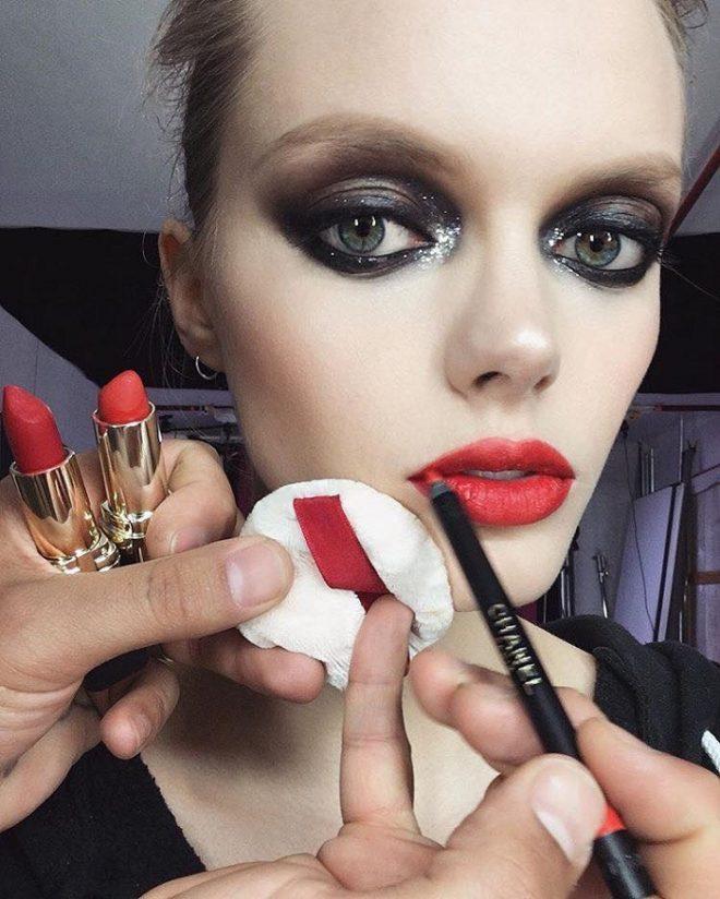 45 of Michael Anthony Best Beauty Looks on Instagram red lipstick smokey eyes