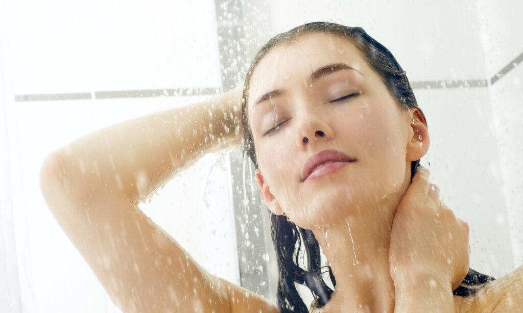 shower, washing hair, wet hair, cleanse, clean, bathe