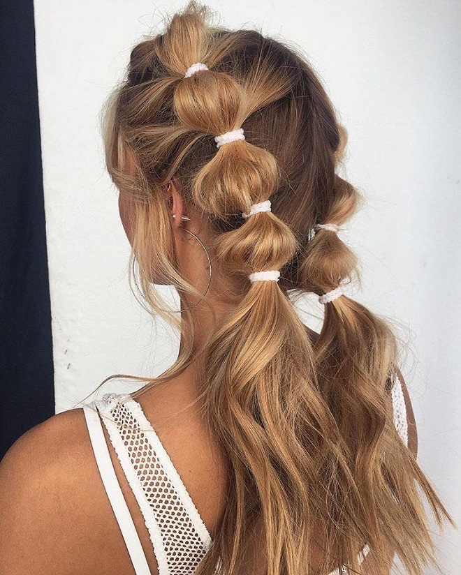 15 Trending Hairstyles for Summer 2018 bobbly pony