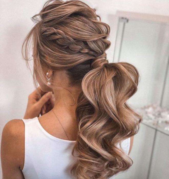 feminine braided ponytails 2