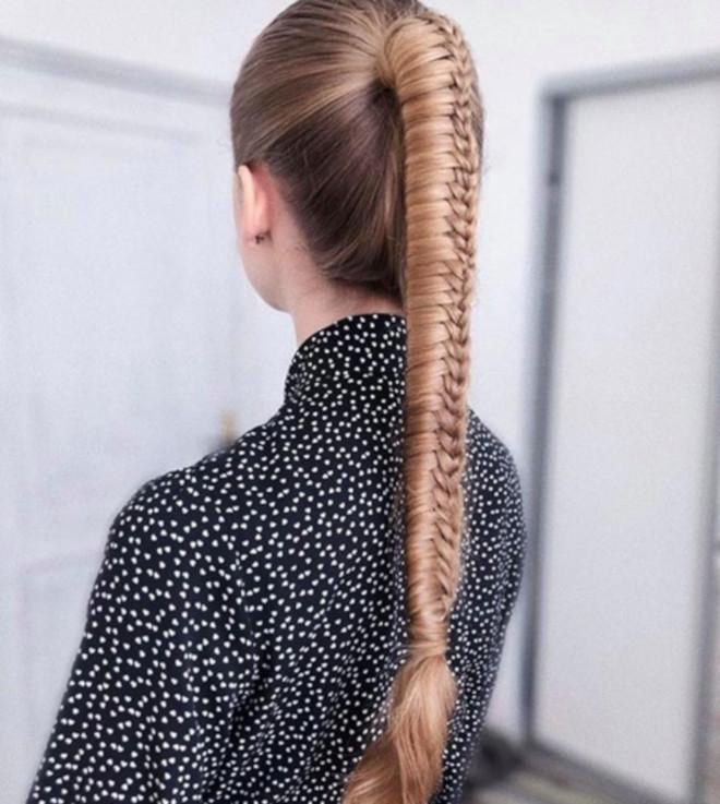 feminine braided ponytails 8