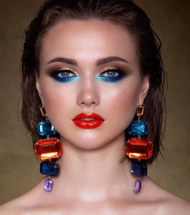 4th of july makeup looks 1